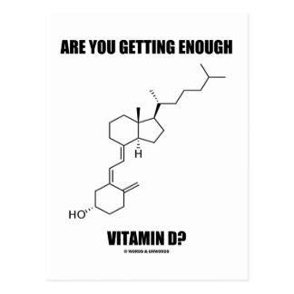 Are You Getting Enough Vitamin D? Cholecalciferol Post Card