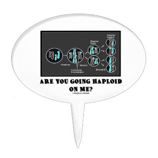 Are You Going Haploid On Me? (Meiosis Humor) Cake Topper