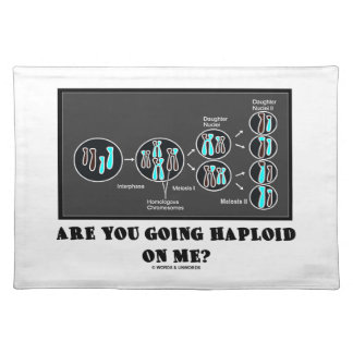 Are You Going Haploid On Me? (Meiosis Humor) Placemat