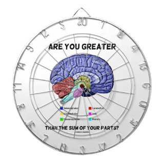 Are You Greater Than The Sum Of Your Parts? Brain Dartboard With Darts