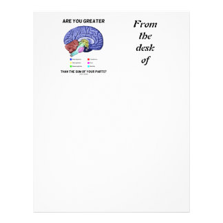 Are You Greater Than The Sum Of Your Parts? Brain Letterhead