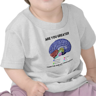 Are You Greater Than The Sum Of Your Parts? Brain Tee Shirts