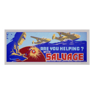 Are you helping?  Salvage - WPA Poster