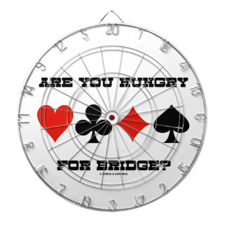 Are You Hungry For Bridge? (Four Card Suits) Dart Board