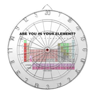 Are You In Your Element? Periodic Table Humor Dartboards