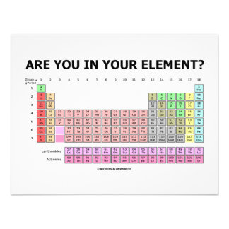 Are You In Your Element Periodic Table Humor Invites