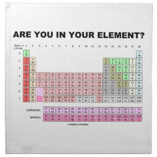 Are You In Your Element? Periodic Table Humor Napkin