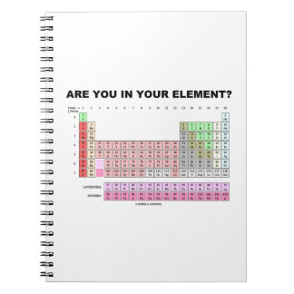 Are You In Your Element? Periodic Table Humor Notebook