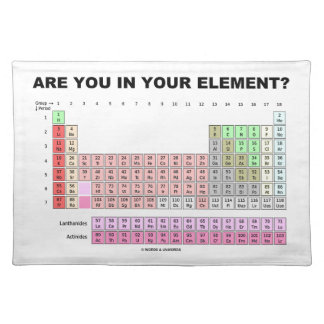 Are You In Your Element? Periodic Table Humor Placemat