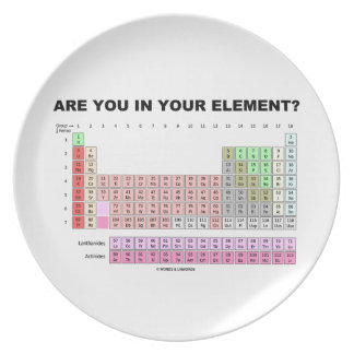 Are You In Your Element? Periodic Table Humor Plate