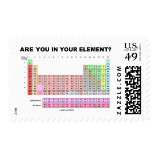 Are You In Your Element? Periodic Table Humor Postage