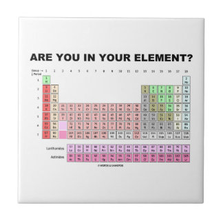 Are You In Your Element? Periodic Table Humor Tile