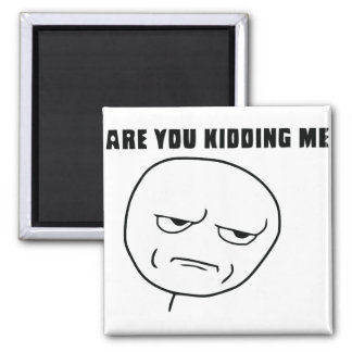 Are You Kidding Me Rage Face Meme Magnet