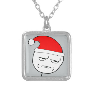 are you kidding me xmas meme personalized necklace