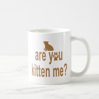 Are you kitten me? coffee mug
