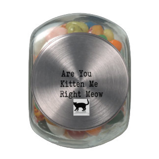 Are you Kitten Me Right Meow Jelly Belly Candy Jar