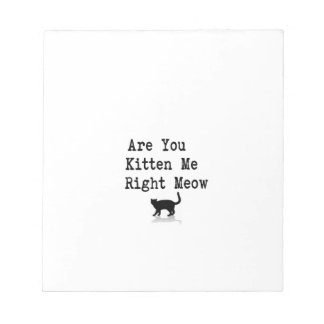 Are You Kitten Me Right Meow Notepad