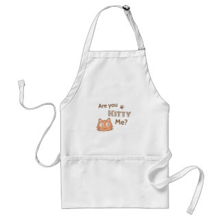 Are You Kitty Me? Cute Kitten Adult Apron