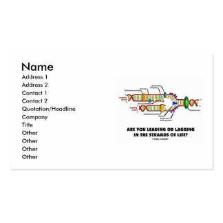 Are You Leading Or Lagging In The Strands Of Life? Business Card Templates