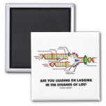 Are You Leading Or Lagging In The Strands Of Life? 2 Inch Square Magnet