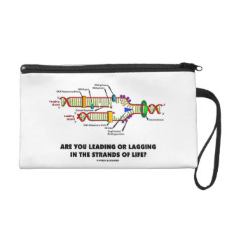 Are You Leading Or Lagging In The Strands Of Life? Wristlet Purse
