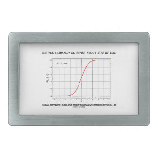 Are You Normally So Dense About Statistics? Belt Buckle