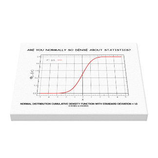 Are You Normally So Dense About Statistics? Canvas Print