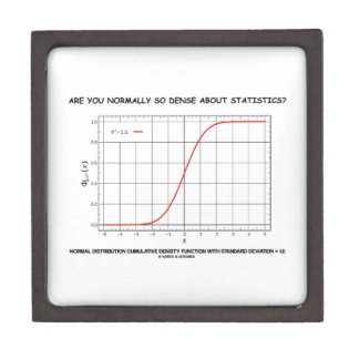 Are You Normally So Dense About Statistics? Keepsake Box