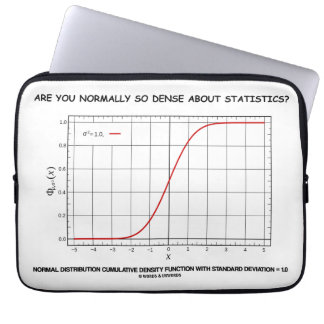 Are You Normally So Dense About Statistics? Laptop Sleeve