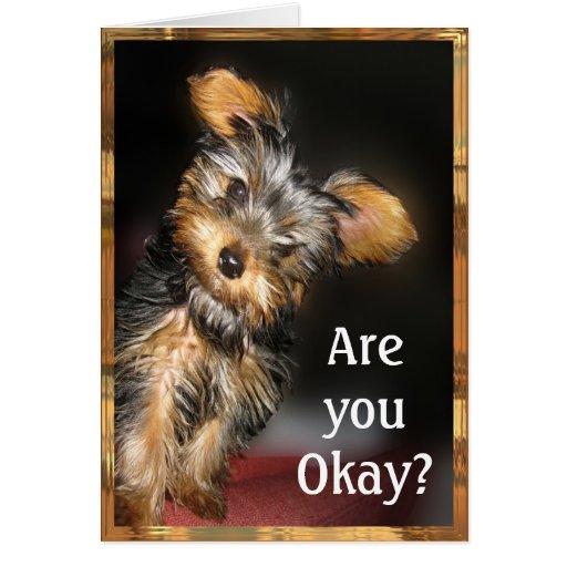 Are you Okay? Customizable Greeting Card