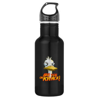 Are You on Kwack! 18oz Water Bottle