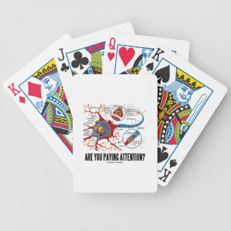Are You Paying Attention? Neuron Synapse Humor Bicycle Playing Cards