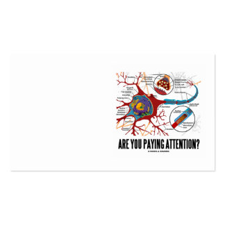 Are You Paying Attention? Neuron Synapse Humor Business Card