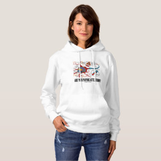 Are You Paying Attention? Neuron Synapse Humor Hoodie