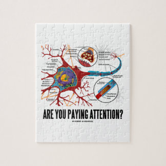 Are You Paying Attention? Neuron Synapse Humor Jigsaw Puzzle