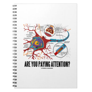 Are You Paying Attention? Neuron Synapse Humor Notebook