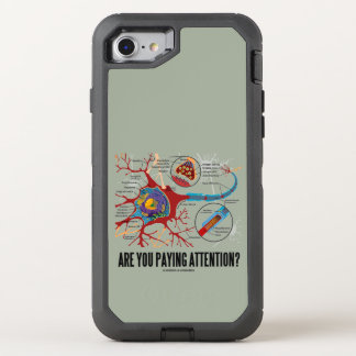 Are You Paying Attention? Neuron Synapse Humor OtterBox Defender iPhone 8/7 Case