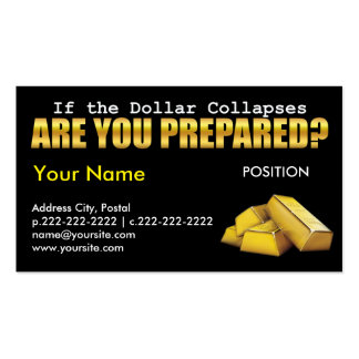 Are you Prepared? - Business Card