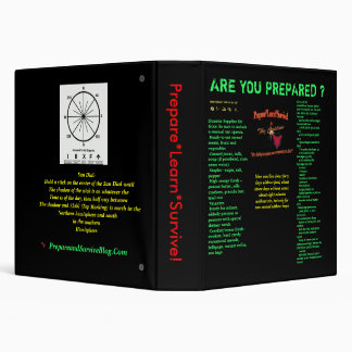 Are you prepared? Disaster List Note Book V2 3 Ring Binder
