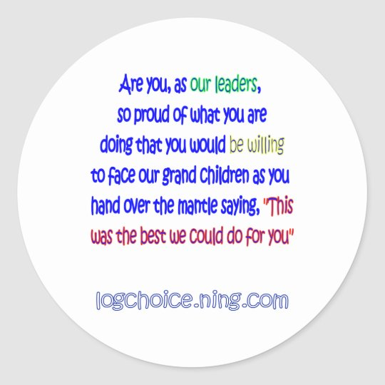 Are you proud? classic round sticker