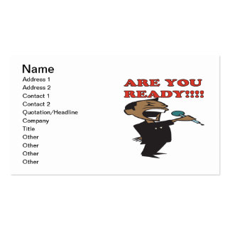 Are You Ready Double-Sided Standard Business Cards (Pack Of 100)