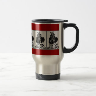 'ARE YOU READY FOR A ZOMBIE ATTACK' bloody red Mug
