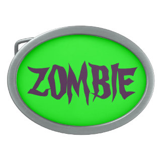 ARE YOU READY FOR A ZOMBIE ATTACK? OVAL BELT BUCKLE