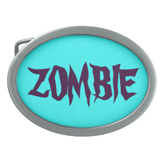 ARE YOU READY FOR A ZOMBIE ATTACK? OVAL BELT BUCKLES
