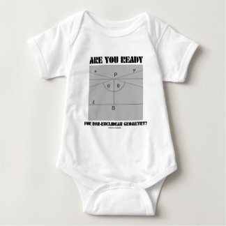 Are You Ready For Non-Euclidean Geometry? Baby Bodysuit