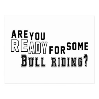 Are you ready for some Bull Riding Postcard