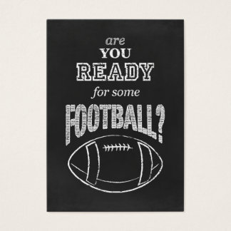 are you ready for some football? business card