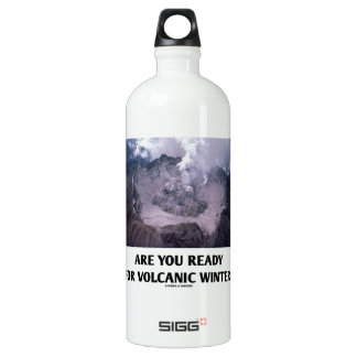 Are You Ready For Volcanic Winter? (Volcanology) Water Bottle