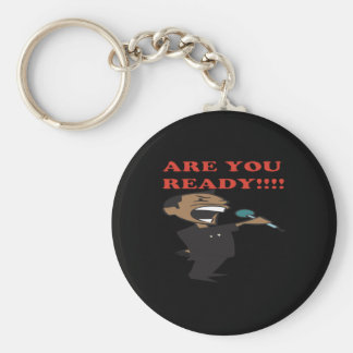 Are You Ready Basic Round Button Keychain