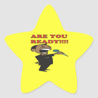 Are You Ready Star Sticker